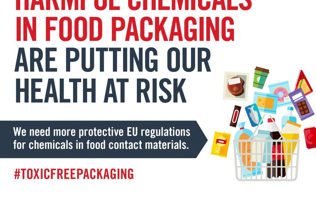 New infographics illustrate that harmful chemicals in food packaging may put our health at risk