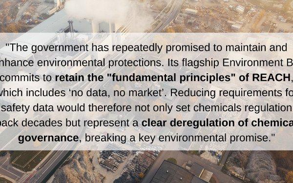 CHEM Trust calls on UK Government not to weaken plans for chemical regulation
