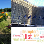 small girl, EU building collage
