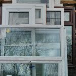 Waste PVC windows